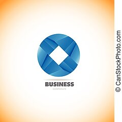 Business corporate circle logo icon