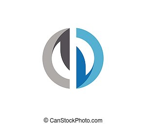 D letter logo design vector