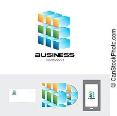 Business corporate technology logo 3d