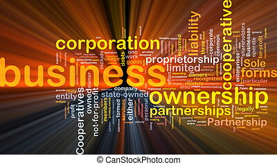 Business corporateion background concept glowing
