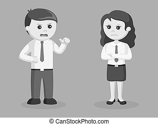 Business couple arguing illustration design