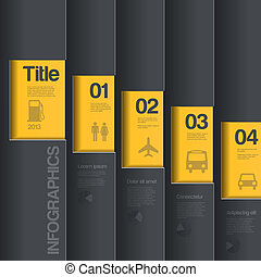 business, créatif, conception, infographics, template., style.