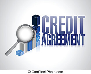 business, crédit, accord, illustration, signe