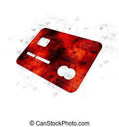 business, crédit, concept:, fond, numérique, carte