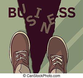 Business crash disaster financial sign economic collapse symbol