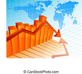 Business crisis - Vector illustration - Business crisis...