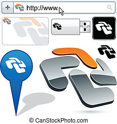 Business cross abstract logo design.