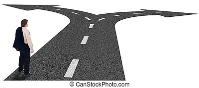 Business crossroads - decisions concept and strategic planning