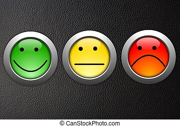 business customer service feedback concept with survey button