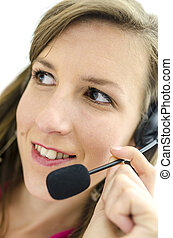 Business customer support operator - Portrait of young...