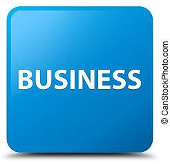 Business cyan blue square button