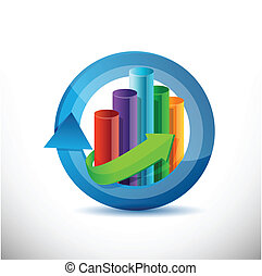 Business, cycle graph chart illustration