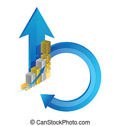 business cycle illustration design