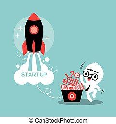 business, démarrage, reussite, entrepreneur