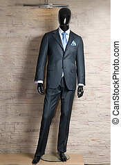 business dark grey suite on mannequin