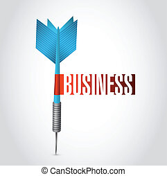 business dart sign illustration design
