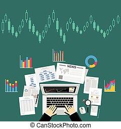 Business data analytics concept.