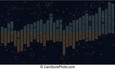 Business data columns bar chart slide, analysis of financial statistics, creative concept for presentation