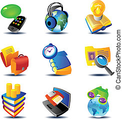 Business data concepts - Concept icons for business...