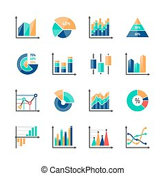 Business data market infographic elements