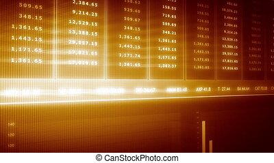 Business data on futuristic scren