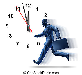 Business deadlines and corporate meetings symbol of urgency...