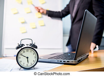 business deadline, time to finish work, goal and success