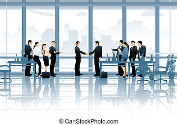 Business Deal - easy to edit vector illustration of business...