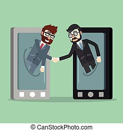 Business deal from cell phone
