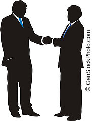 Business Deal - Vector illustration of business people...