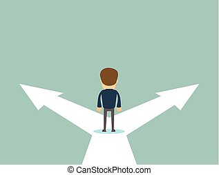 Business decision concept vector illustration.