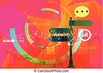 Business Decision Making Abstract - Illustration