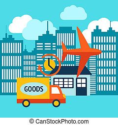 Business delivery 24h internet shopping service