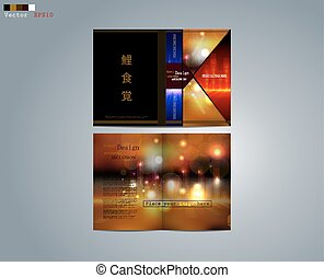 Business design of the brochure