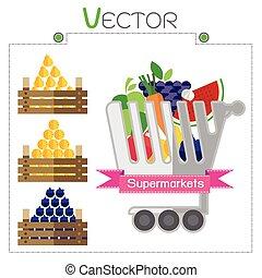 Business design with Fruit supermarket vector illustration