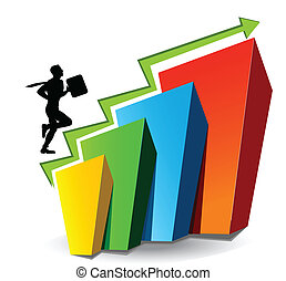 business development - Illustrative representation showing...