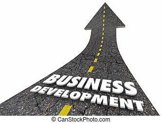 Business Development Road to Growth Increase Rising 3d Render Illustration