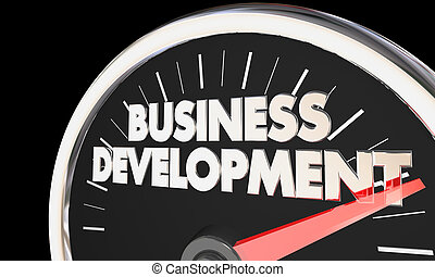 Business Development Speedometer Sales New Customers 3d Illustration