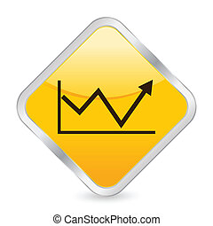 business diagram 2 yellow square icon