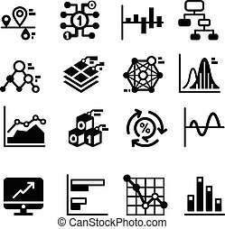 Business diagram and graph icons set
