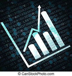 Business diagram and graphs related objects