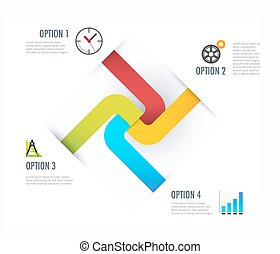 Business diagram. Business infographic with icon. vector illustration.