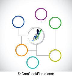business diagram chart illustration design