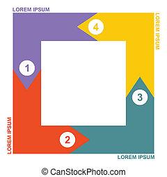 Business diagram, flowchart template