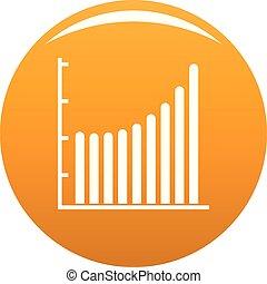 Business diagram icon vector orange
