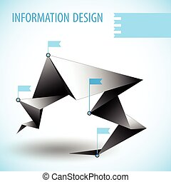 Business Diagram Template With Text Field - Business diagram...