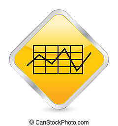 business diagram yellow square icon