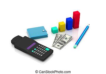 business, diagramme, projection, financier