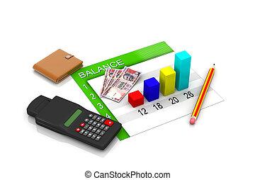 business, diagramme, projection, financier, su