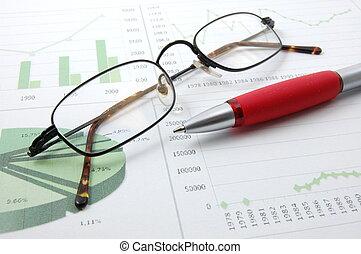 business, diagramme, projection, reussite